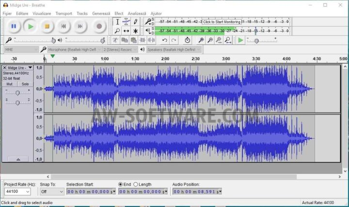 Download gratis Audacity cel mai bun program de taiere si lipire melodii MP3