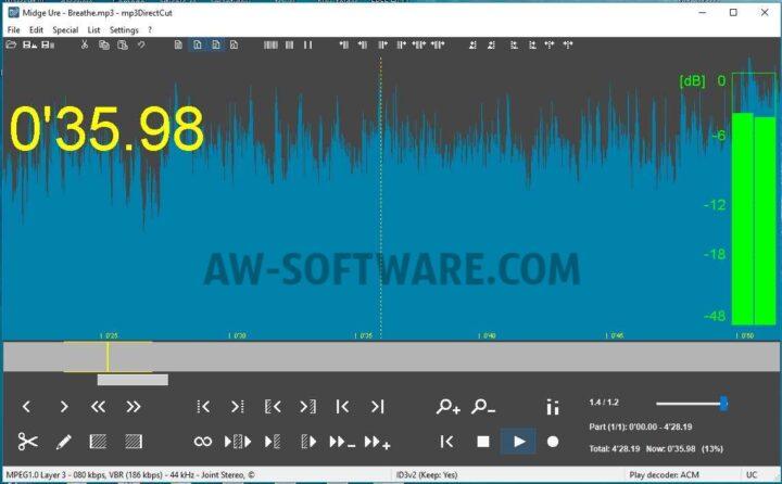 Mp3DirectCut un program de taiat si unit melodii mp3 gratis