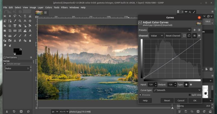 gimp program de editare poze
